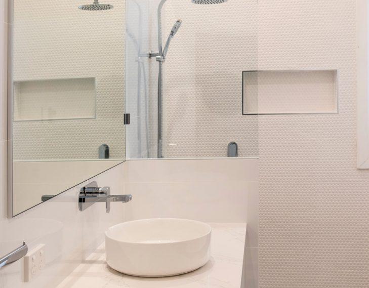 Basin shower back