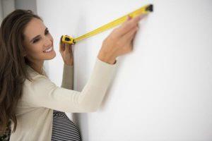 lady measuring