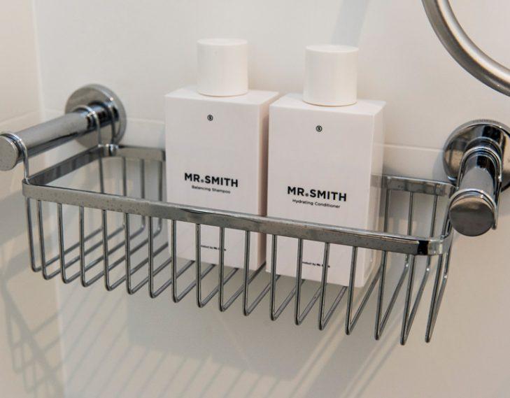 Shower rack soap